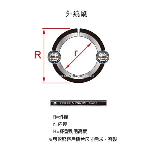外圈鐵片刷-尺寸規格表