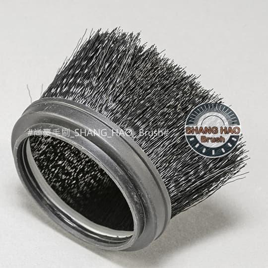 杯型鐵片毛刷-尼龍黑色波浪毛刷