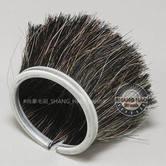杯型鐵片毛刷-棕馬毛-外徑50mm
