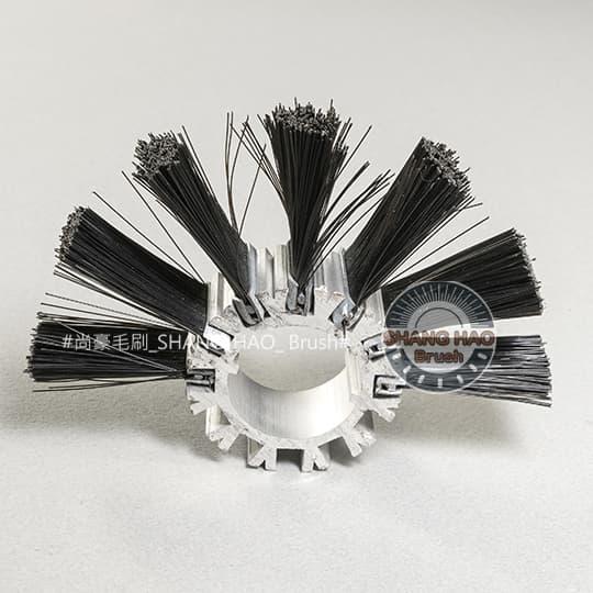 鐵片輪刷-尼龍黑色-外徑90